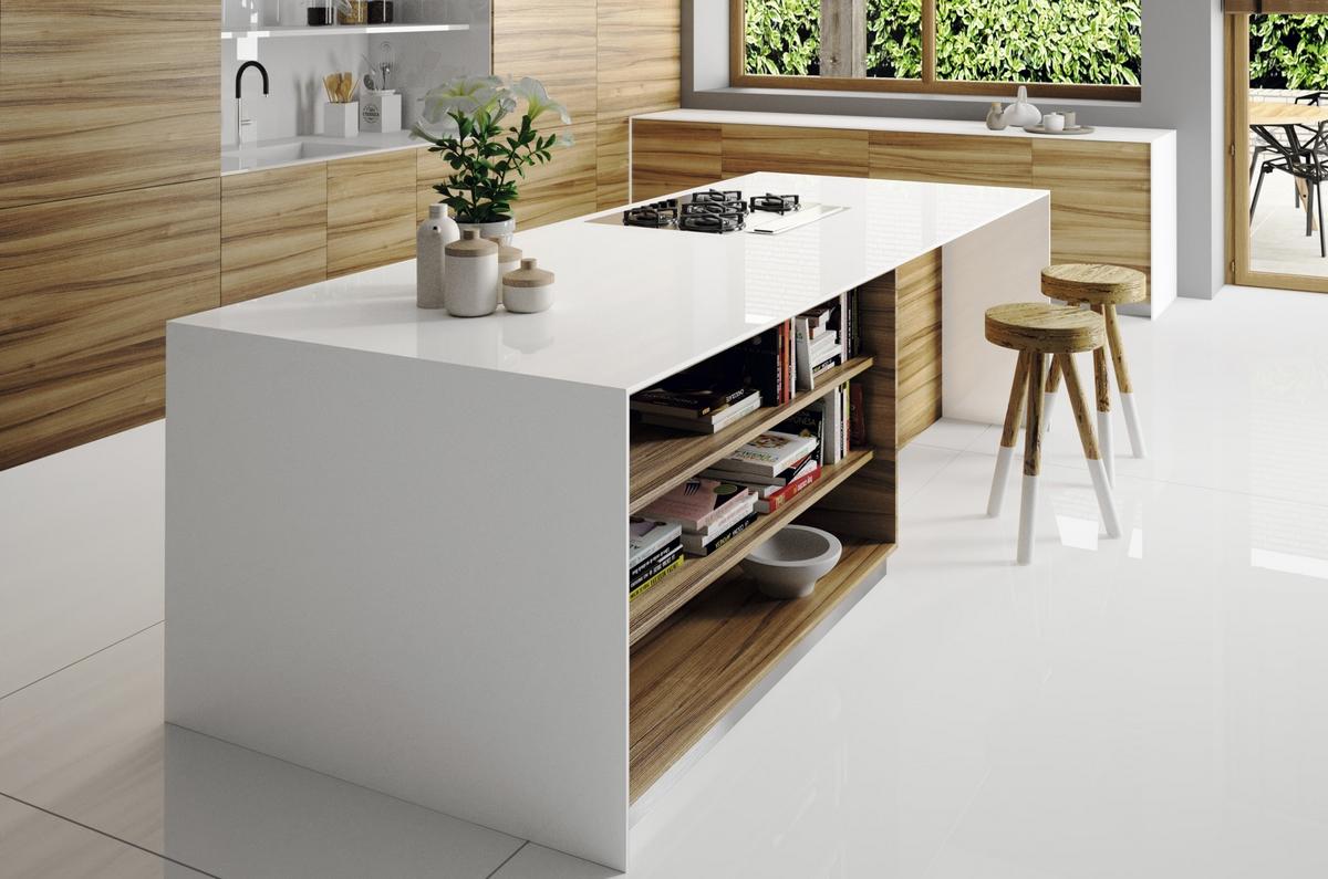 Silestone Iconic White kök